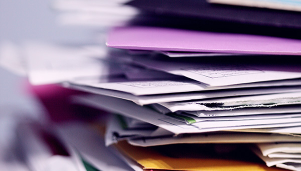 Pile of documents and folders