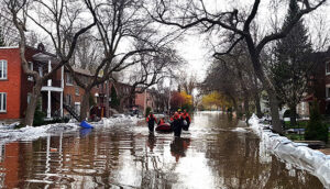 Floded street - Cost of floods