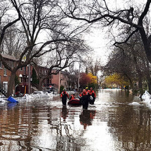 Floded street