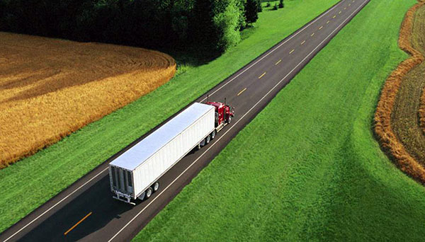 Freight truck on a road
