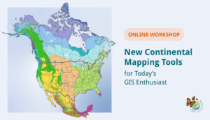 Banner for depicting a Land Cover Change map of North america