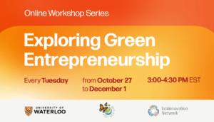 Banner for GREEN ENTREPRENEURSHIP – Online Workshop Series