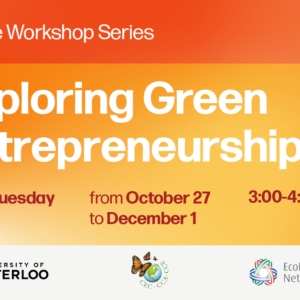 Banner for GREEN ENTREPRENEURSHIP – Online Workshop Series